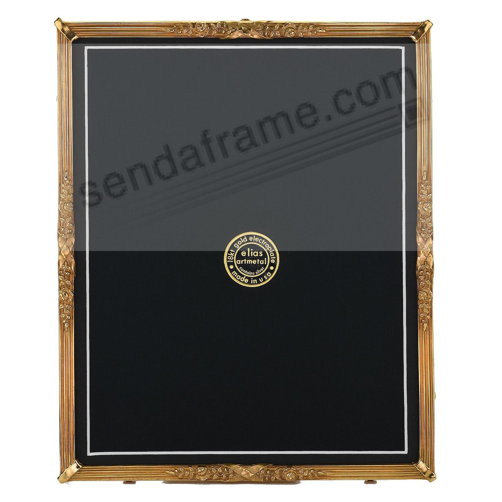PETITE LOUIS Luxe 18kt Museum Gold over Fine Pewter 8x10/7x9 frame by Elias®