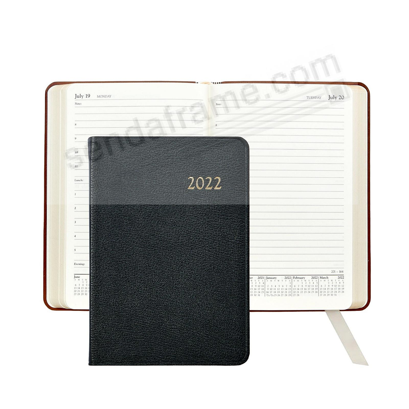 2021 BLACK 8-in Daily Journal Goatskin leather by Graphic Image™