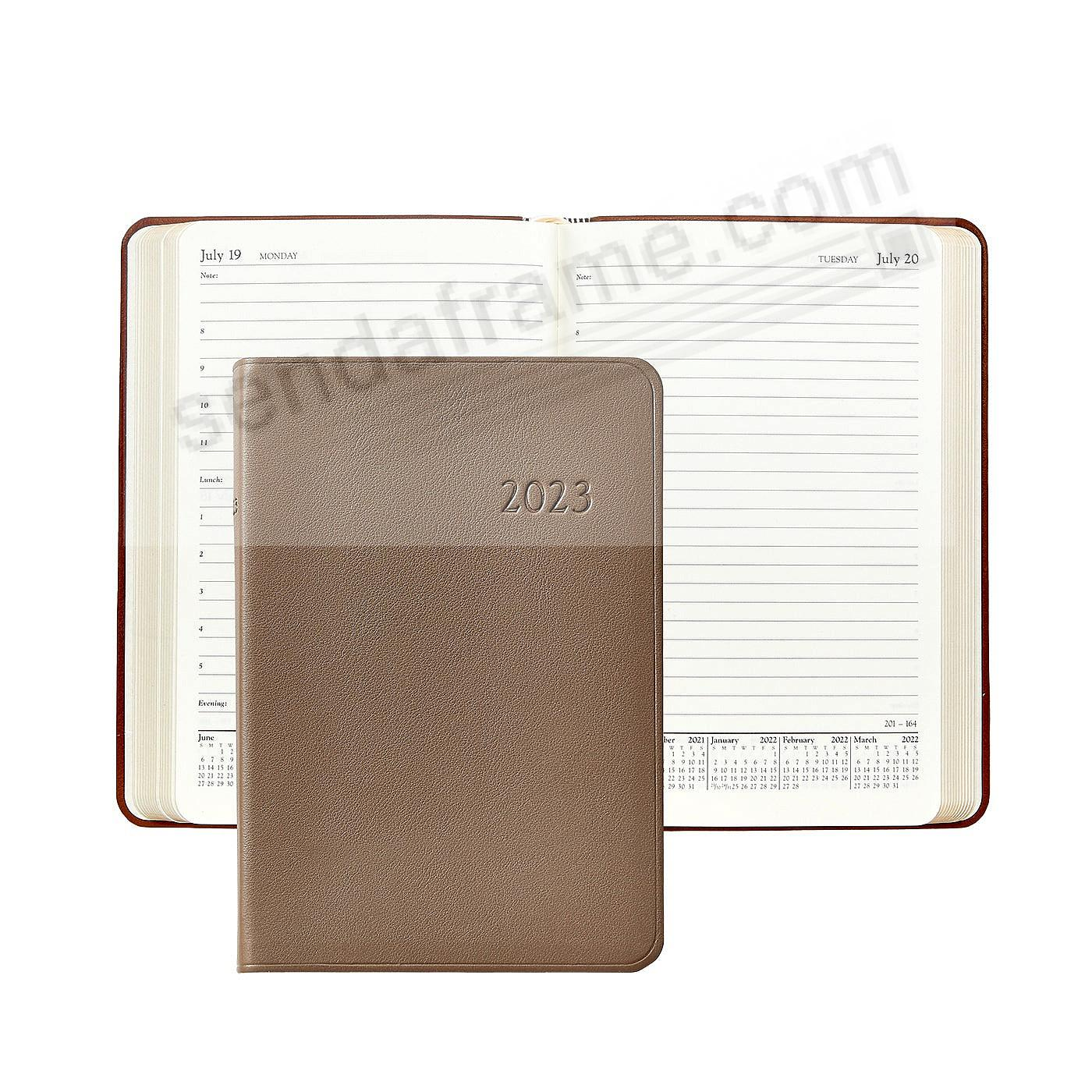2021 TAUPE Goatskin leather Daily 8-in Journal by Graphic Image™