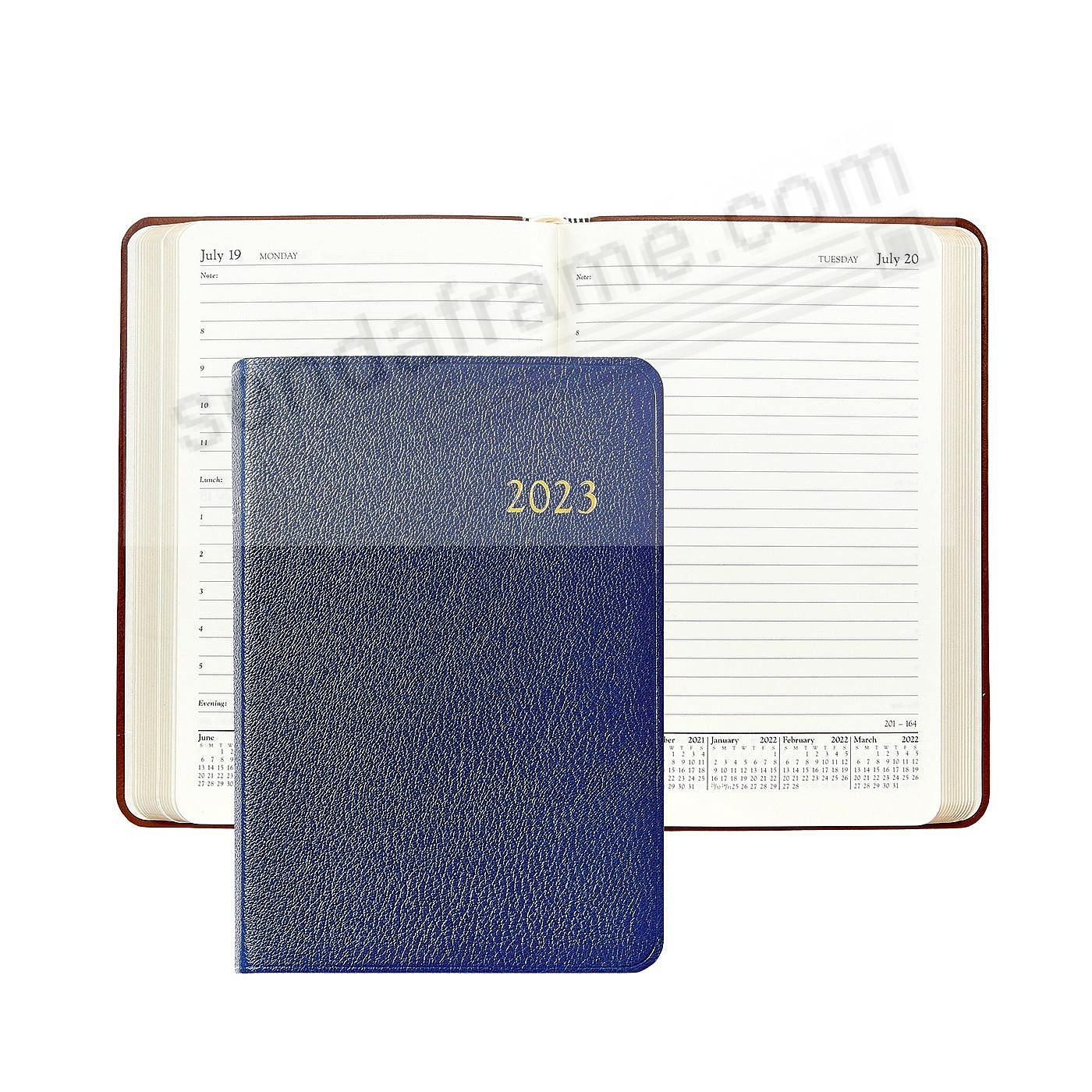 2021 INDIGO-BLUE Goatskin leather Daily 8-in Journal by Graphic Image™