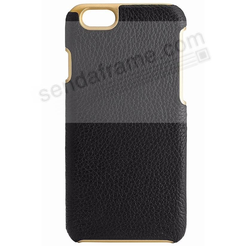 IPhone 6/6S Customizable Hard Shell Case Leather (FULL GRAIN BLACK) by Graphic Image®