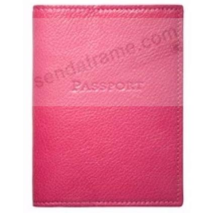 PASSPORT/ID HOLDER in Brights PINK Leather by Graphic Image®