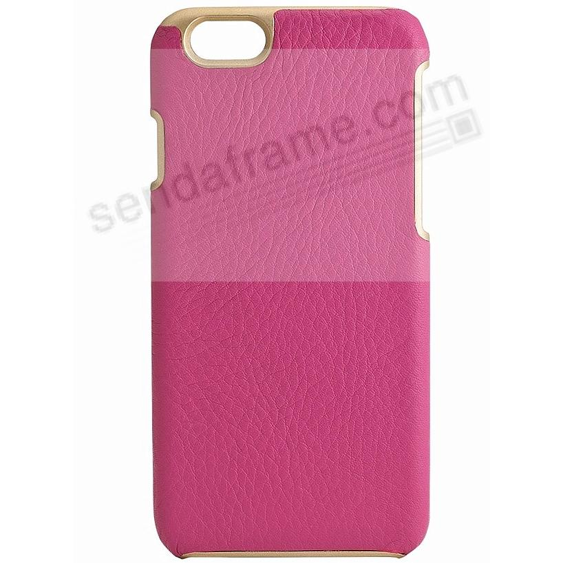 IPhone 6/6S Customizable Hard Shell Case Leather (FULL-GRAIN PINK) by Graphic Image®