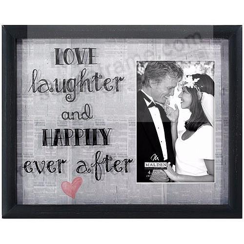 LOVE LAUGHTER AND HAPPILY EVER AFTER Newprints Reflection Frame