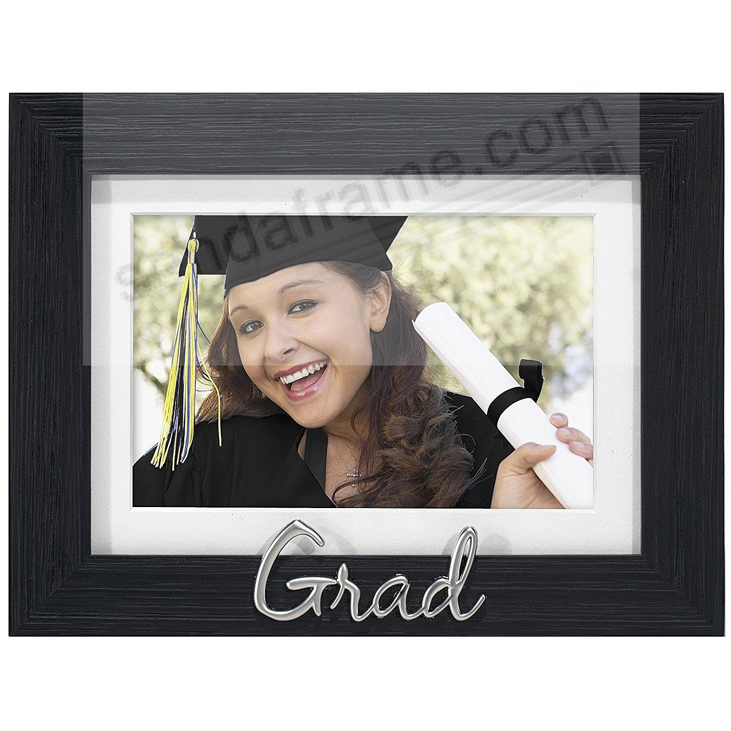 GRAD Black matted 7x5/6x4 keepsake frame