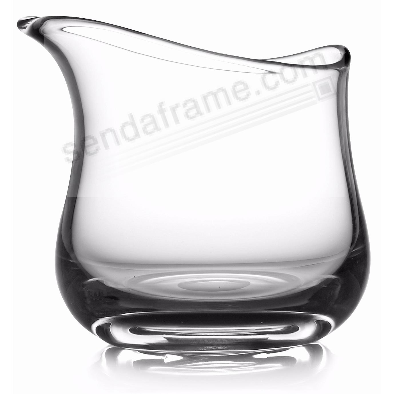 The MODERNE GLASS ART VASE 8in SHORT (CLEAR) by Nambe®