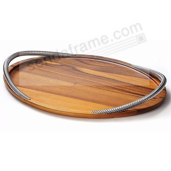 The BRAID SERVING TRAY 19-in by Nambe®