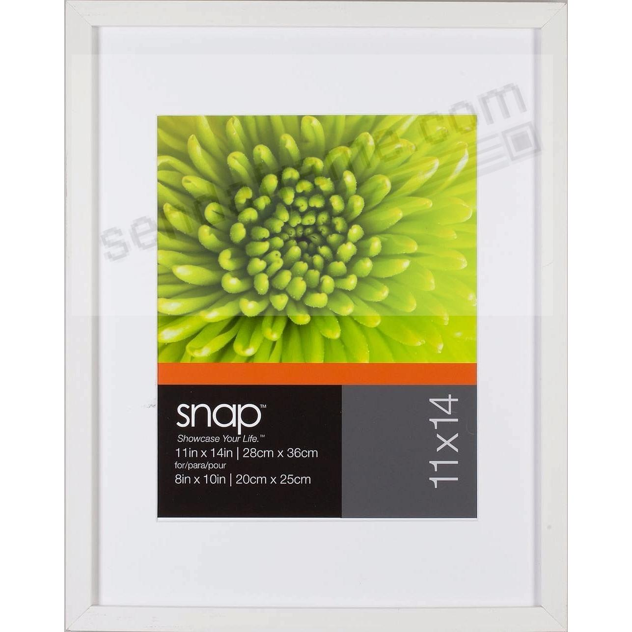 White Frame w/White Mat 11x14/8x10 by SNAP™