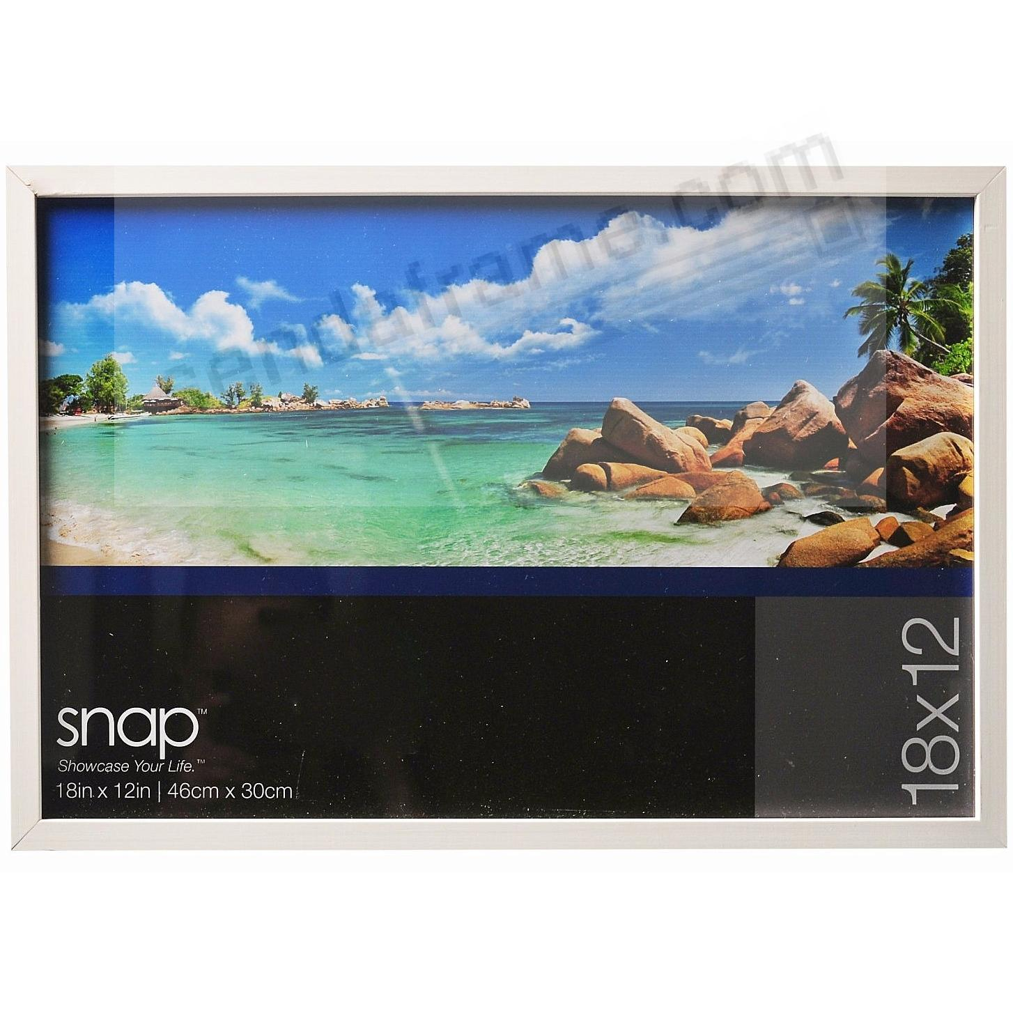 White Wood Frame 12x18 by SNAP™