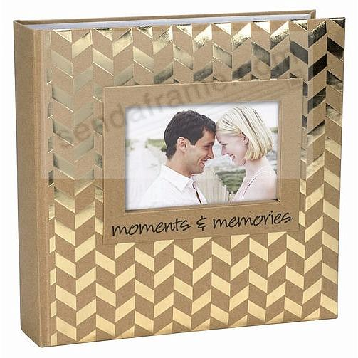 MOMENTS + MEMORIES Gold Album by Malden® holds 160 photos