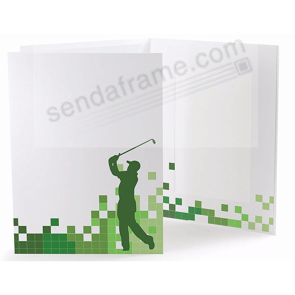 GOLFER Cardboard Photo Folder for 5x7 prints