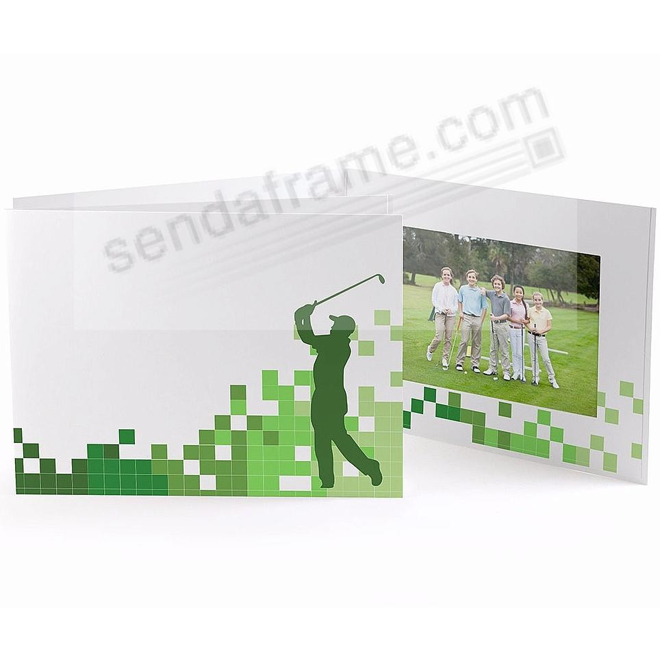 GOLFER White Cardboard Photo Folder for 7x5 prints