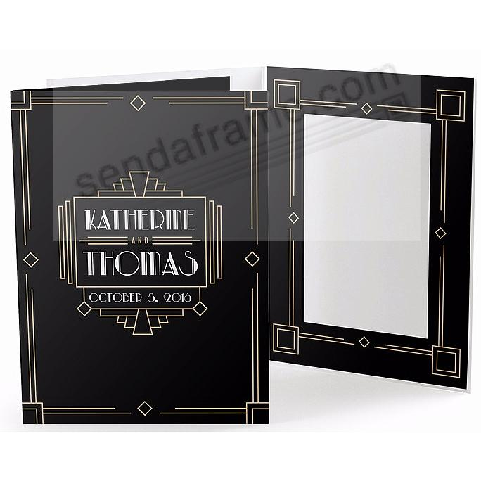 ART DECO AFFAIR Cardboard Photo Folder for 5x7 prints