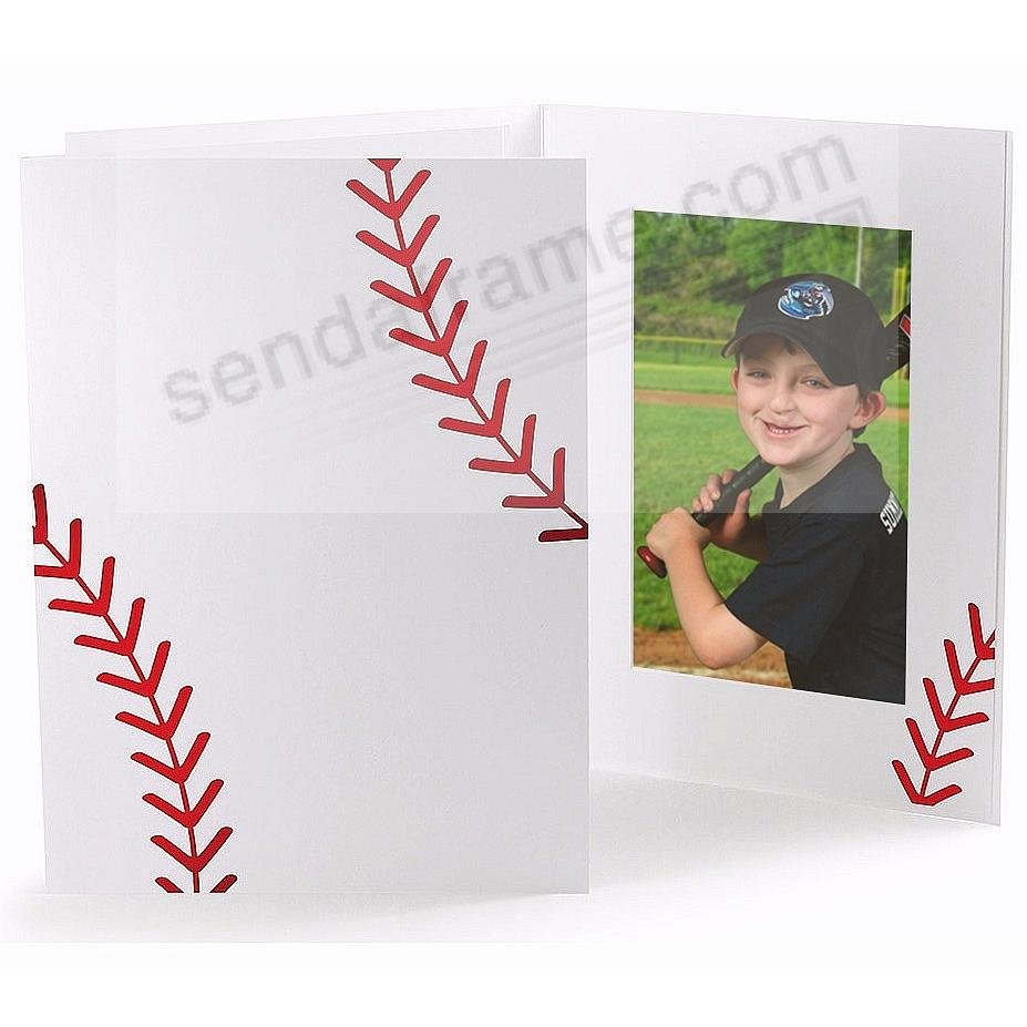 BASEBALL STITCHING Cardboard Photo Folder for 4x6 prints