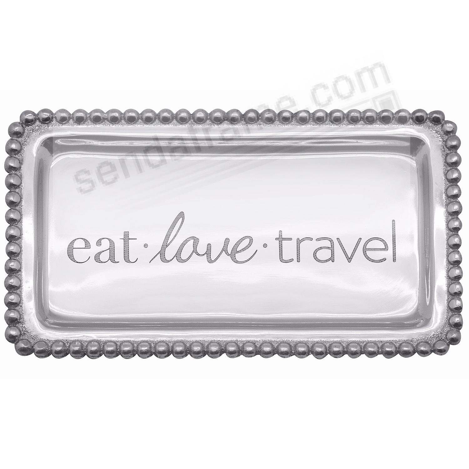 The original EAT LOVE TRAVEL STATEMENT TRAY crafted by Mariposa®