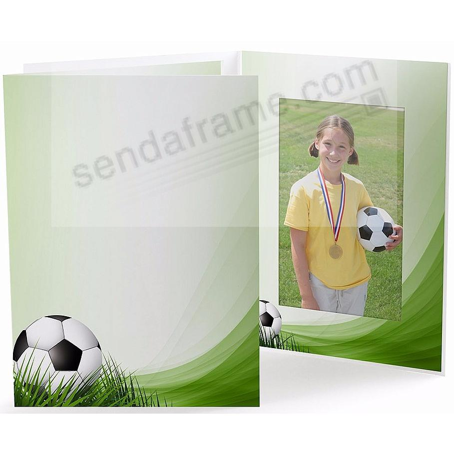 SOCCER FIELD Cardboard Photo Folder for 5x7 prints
