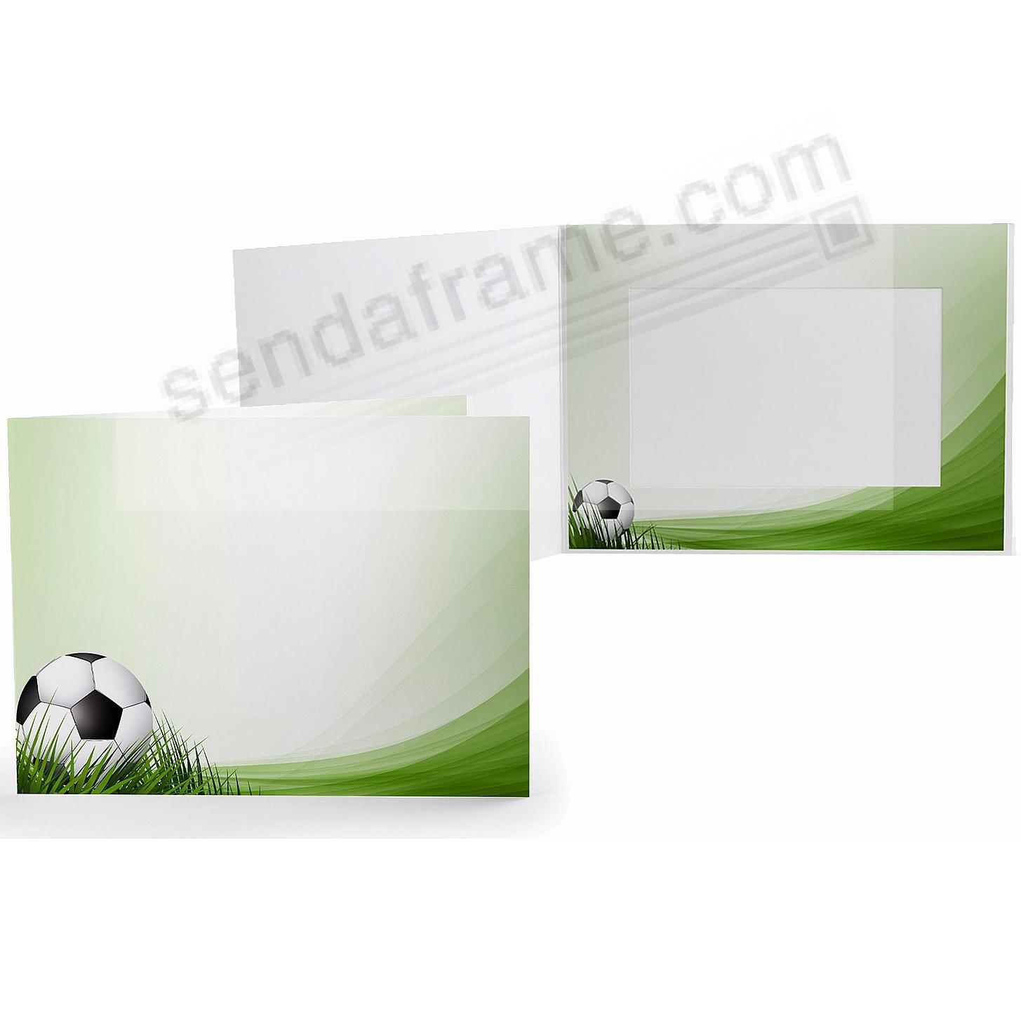 SOCCER FIELD Cardboard Photo Folder for 7x5 prints
