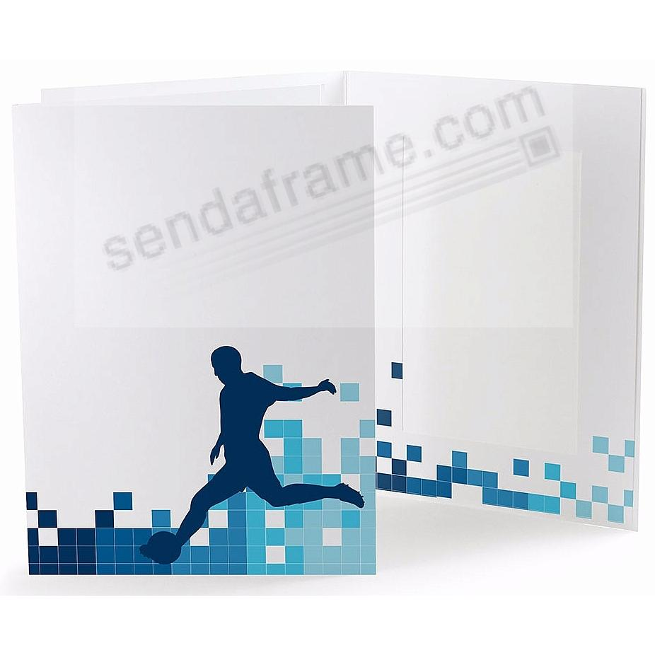 SOCCER LOCKER ROOM Cardboard Photo Folder for 5x7 prints