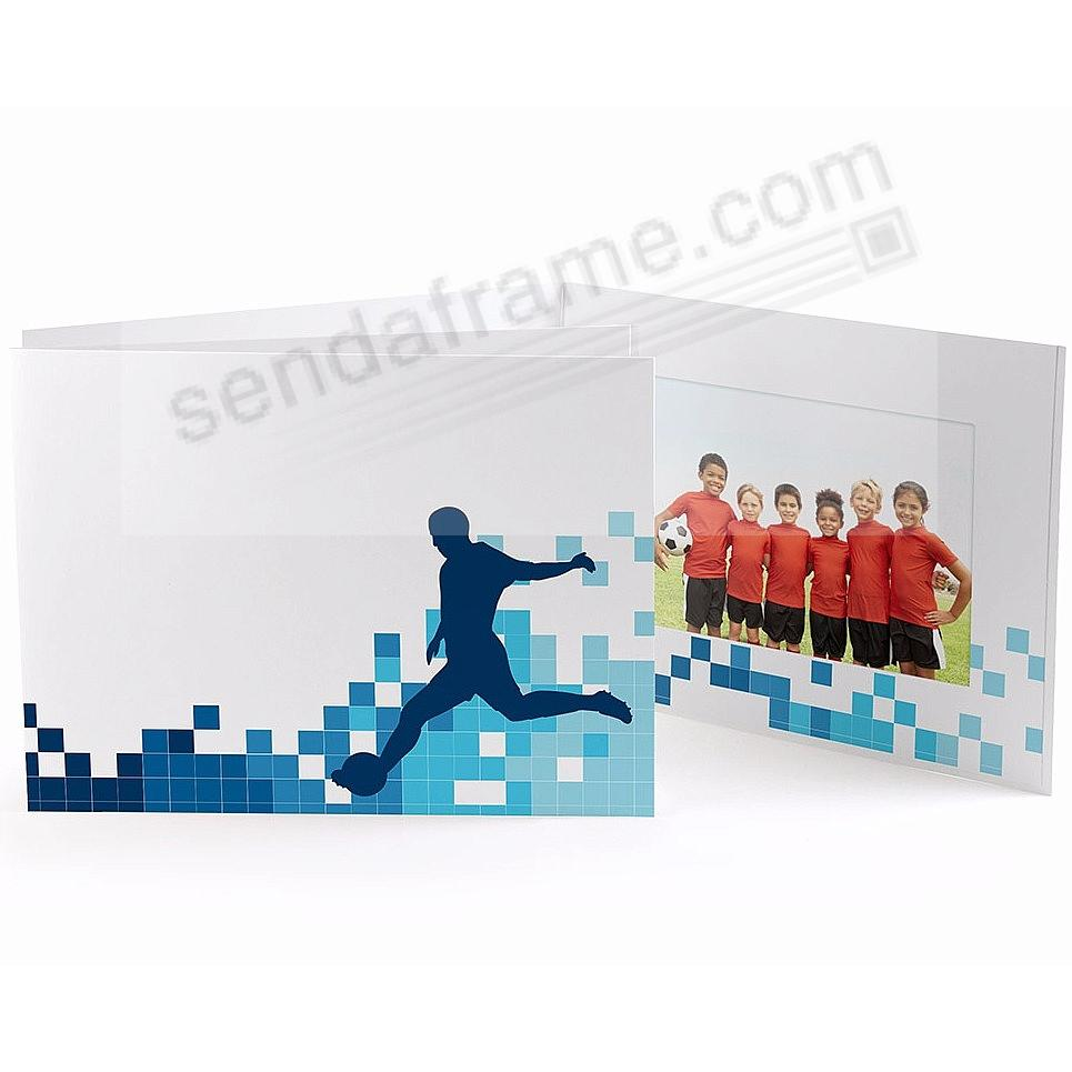 SOCCER LOCKER ROOM Cardboard Photo Folder for 6x4 prints