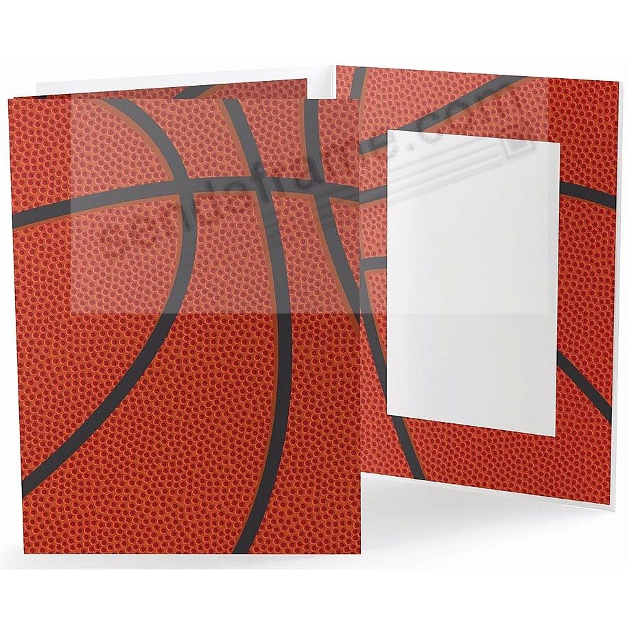 BASKETBALL STITCHING Cardboard Photo Folder for 4x6 prints