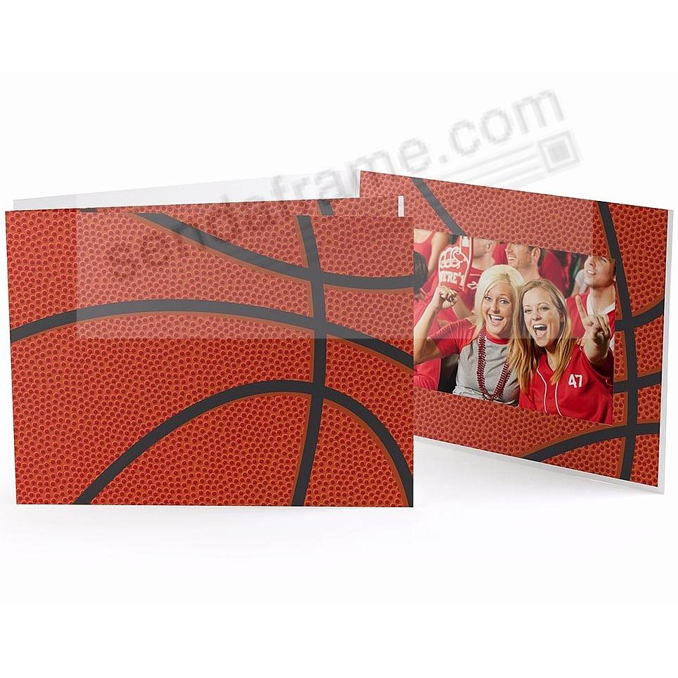 BASKETBALL STITCHING Cardboard Photo Folder for 6x4 prints