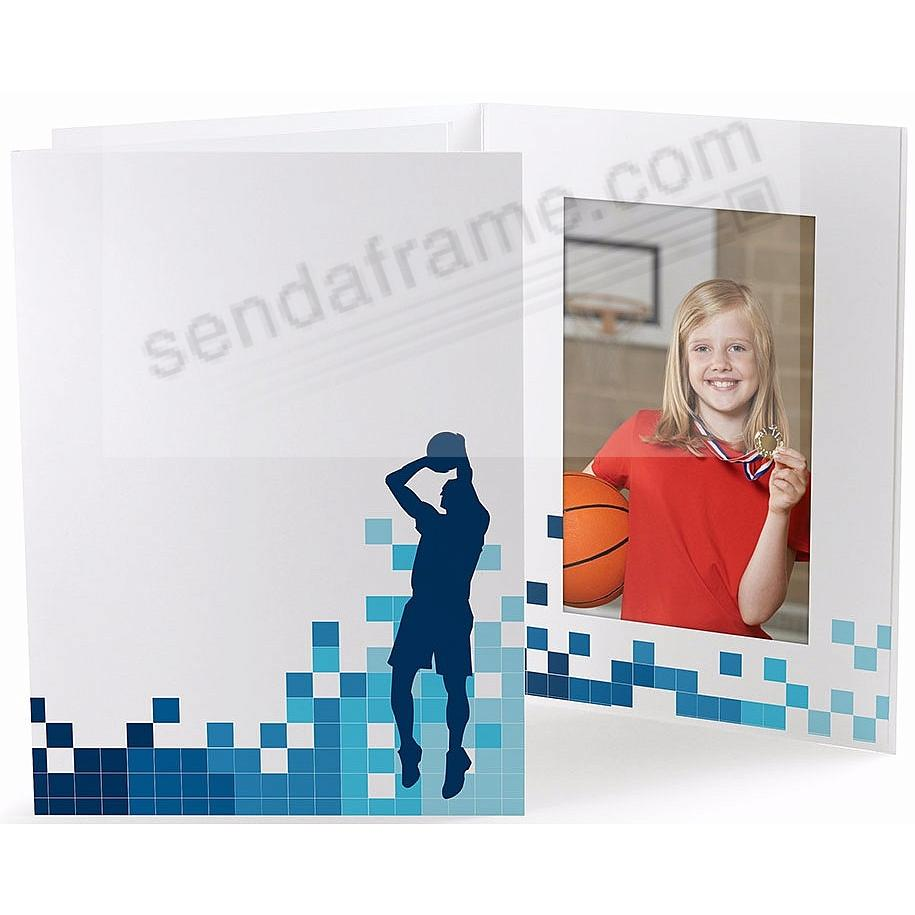 BASKETBALL LOCKER ROOM Cardboard Photo Folder for 4x6 prints