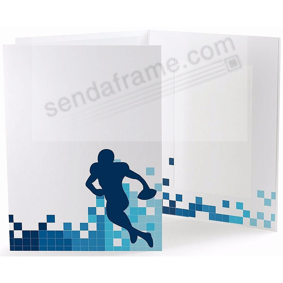FOOTBALL LOCKER ROOM Cardboard Photo Folder for 4x6 prints