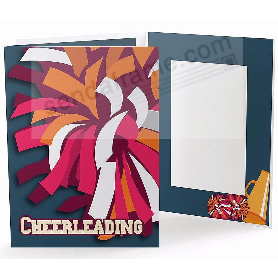 Our Colorful CHEERLEADING POM-POM 5x7 Photo Folder