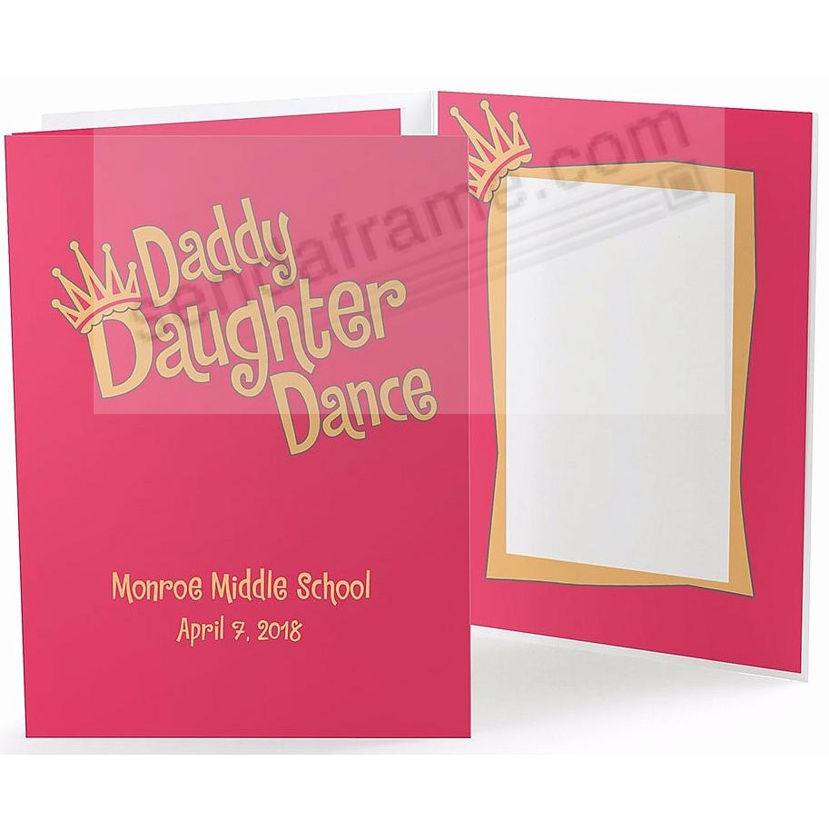 Our Colorful DADDY DAUGHTER DANCE 5x7 Photo Folder