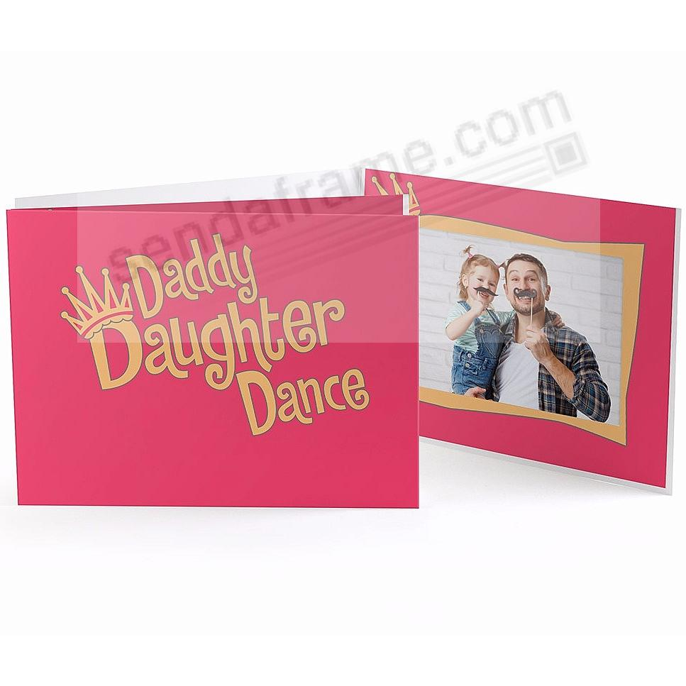 Our Colorful DADDY DAUGHTER DANCE 7x5 Photo Folder