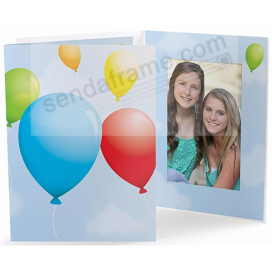 Our Colorful PARTY BALLOONS 4x6 Photo Folder