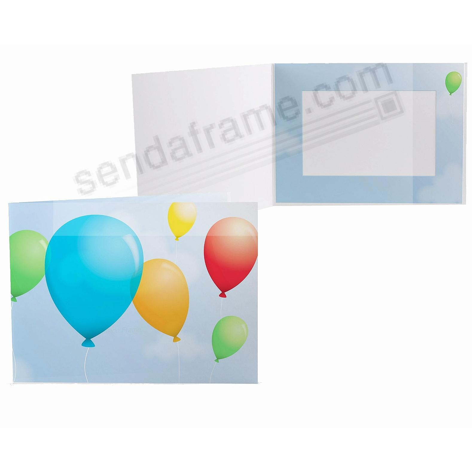 Our Colorful PARTY BALLOONS 7x5 Photo Folder