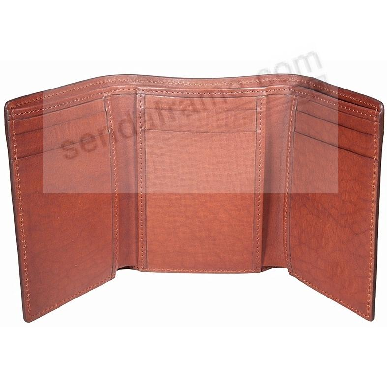 Brown Tri-Fold Wallet in Vachetta Leather by Graphic Image®
