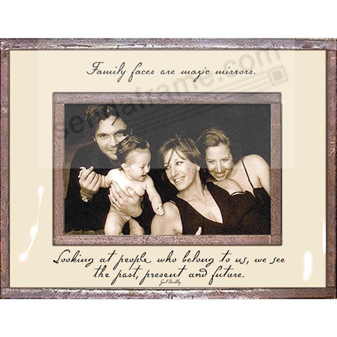 FAMILY FACES ARE MAGIC MIRRORS Copper + Clear Glass by Ben's Garden®