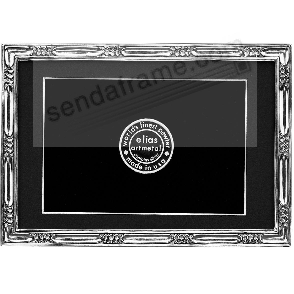 LAKESIDE luxe silvered fine pewter 4x6/3½x5½ by Elias Artmetal®