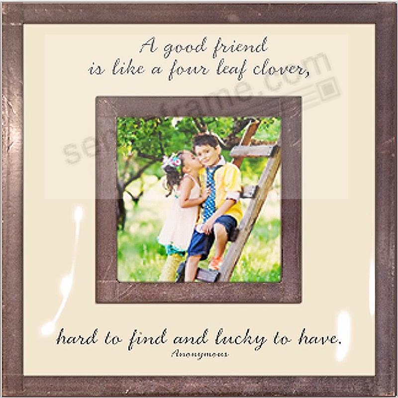 A GOOD FRIEND IS LIKE Copper + Clear Glass by Ben's Garden®