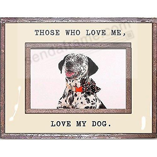 LOVE ME - LOVE MY DOG Copper + Clear Glass by Ben's Garden®
