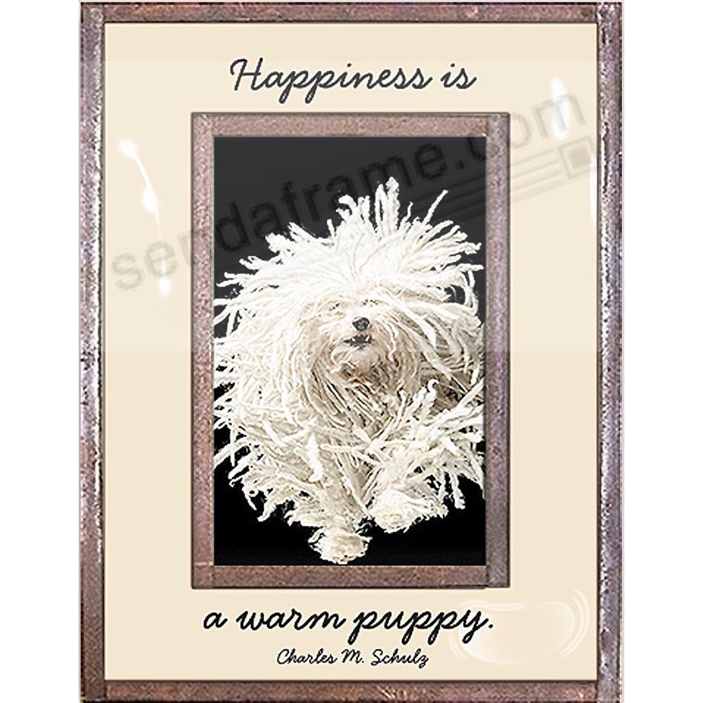 HAPPINESS IS A WARM PUPPY Copper + Clear Glass by Ben's Garden®