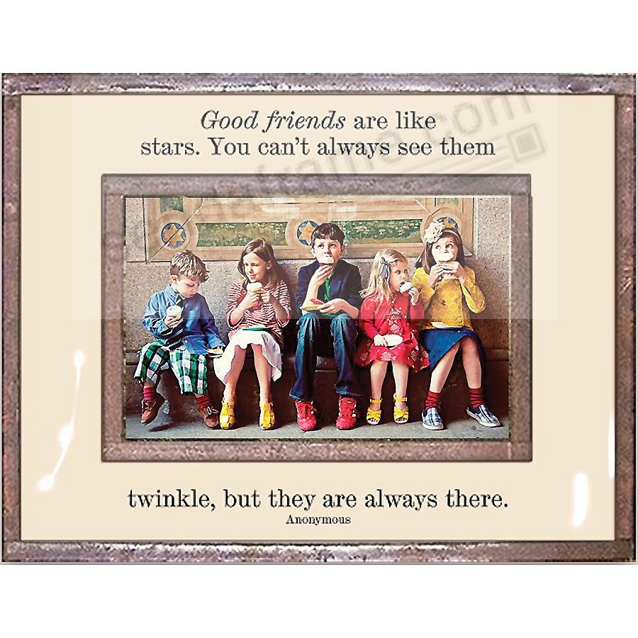 GOOD FRIENDS ARE LIKE STARS Copper + Clear Glass by Ben's Garden®