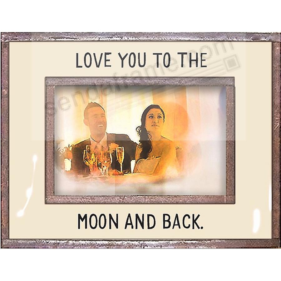 LOVE YOU TO THE MOON AND BACK Copper + Clear Glass by Ben's Garden®