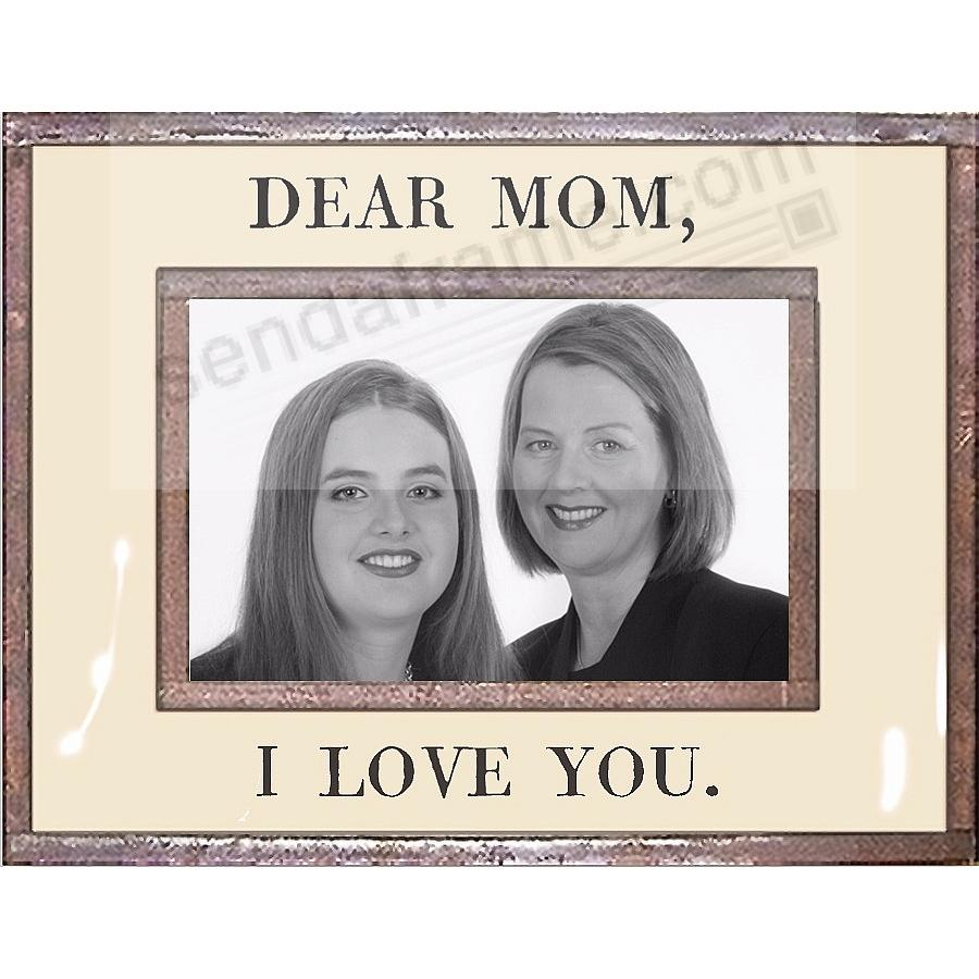 DEAR MOM - I LOVE YOU Copper + Clear Glass by Ben's Garden®