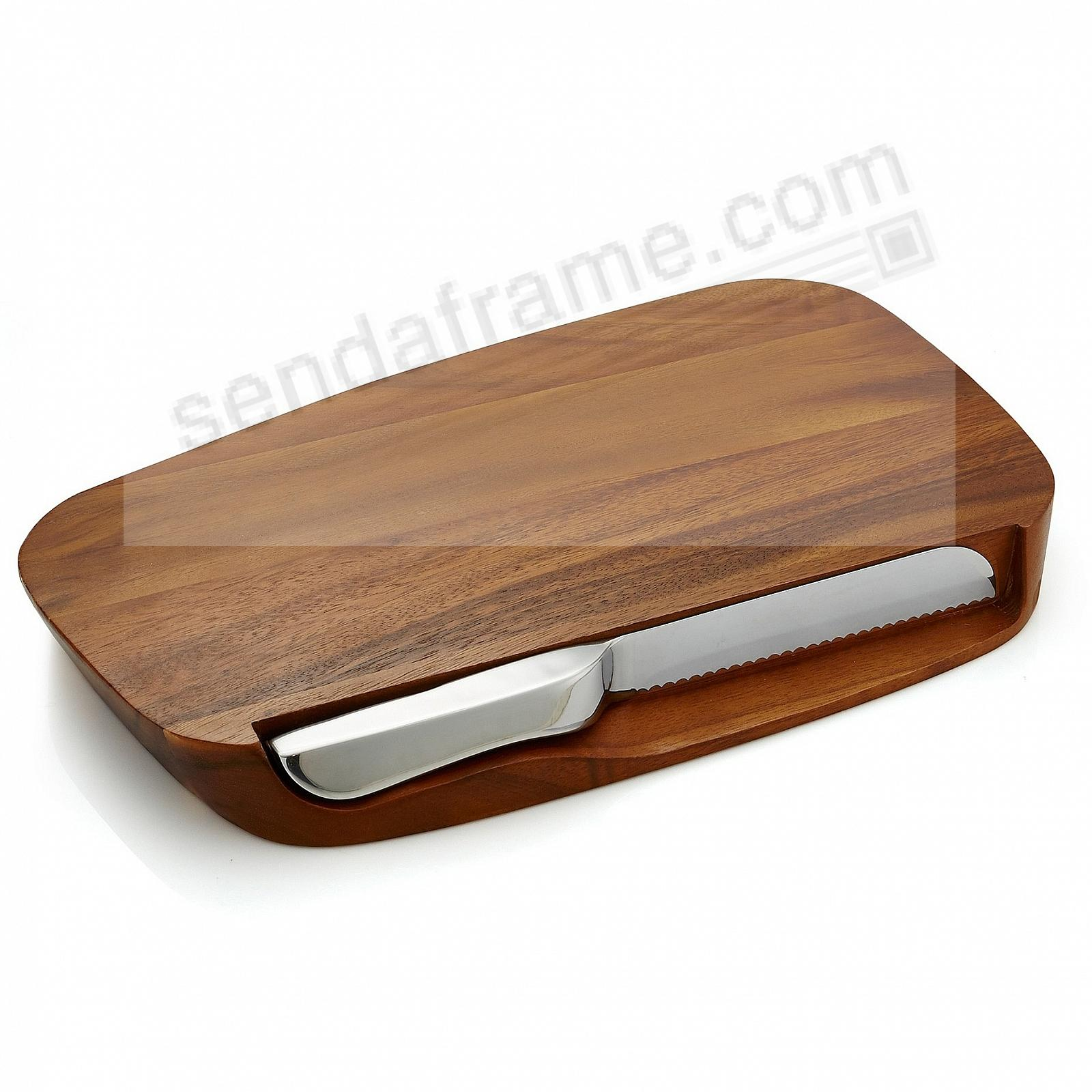 The BLEND BREAD BOARD w/KNIFE by Nambe®