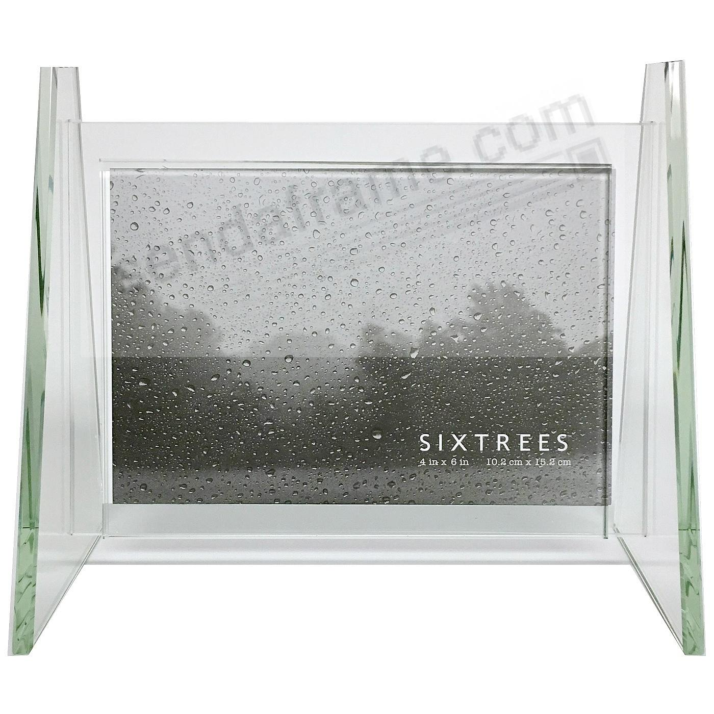MILAN glass frame w/Side Rail Stand for your 6x4 print by Sixtrees®