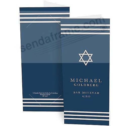 STAR OF DAVID Personalized Photo Strip holders for 2x6 Photobooth Prints