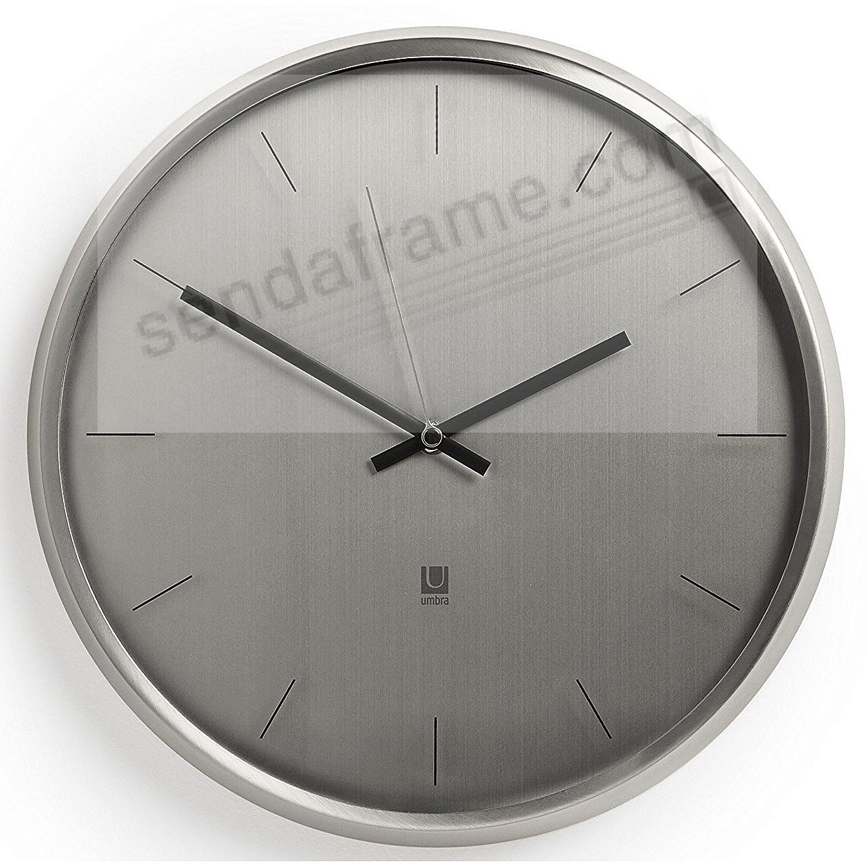 The original META NICKEL WALL CLOCK by Umbra®