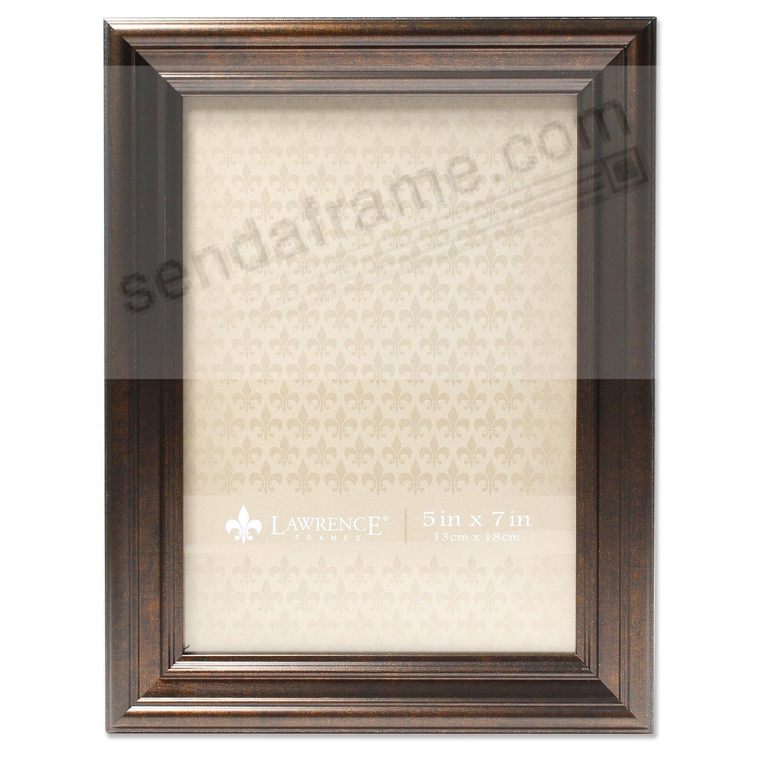 Burnished Bronze Ridged 5x7 frame by Lawrence Frames®