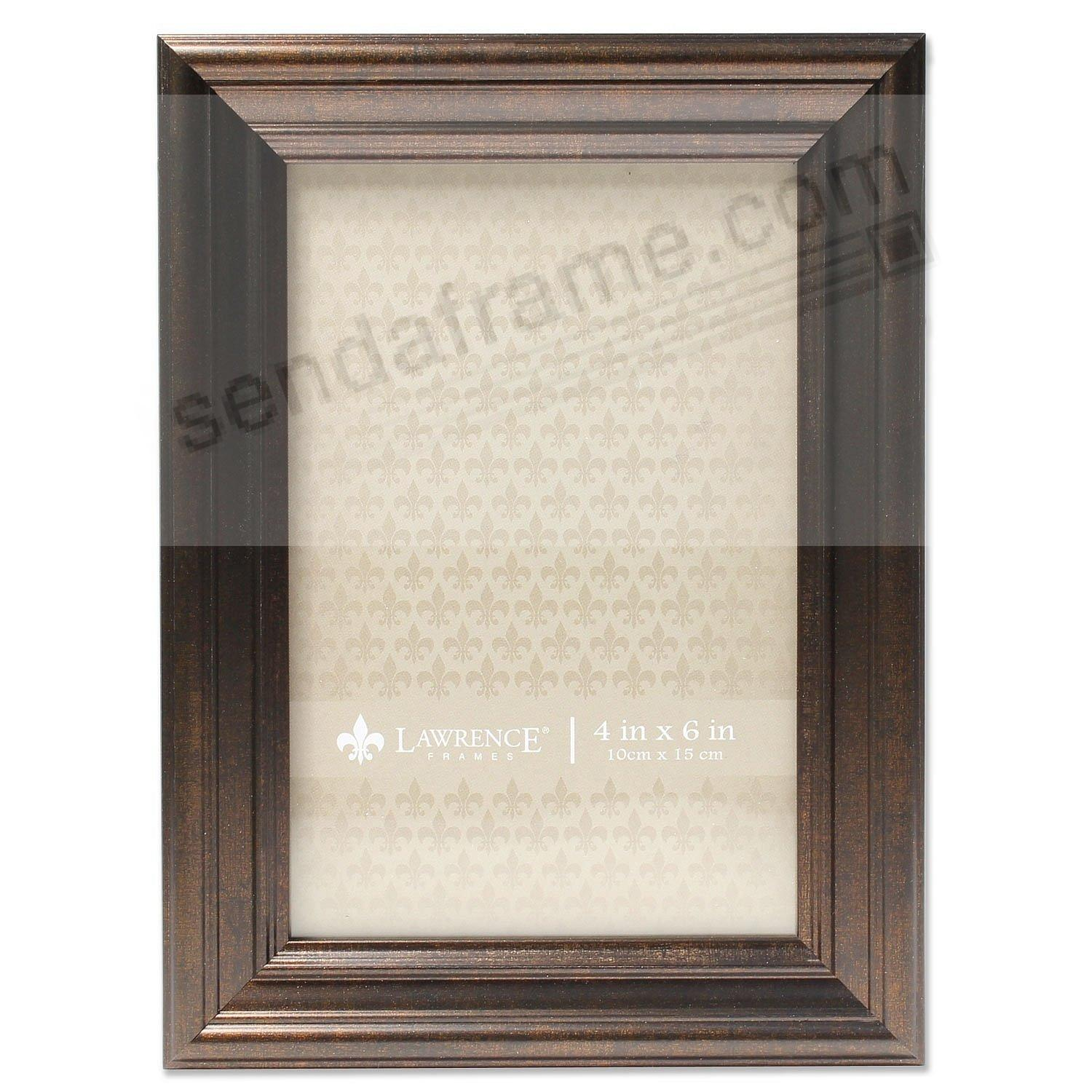 Burnished Bronze Ridged 4x6 frame by Lawrence Frames®