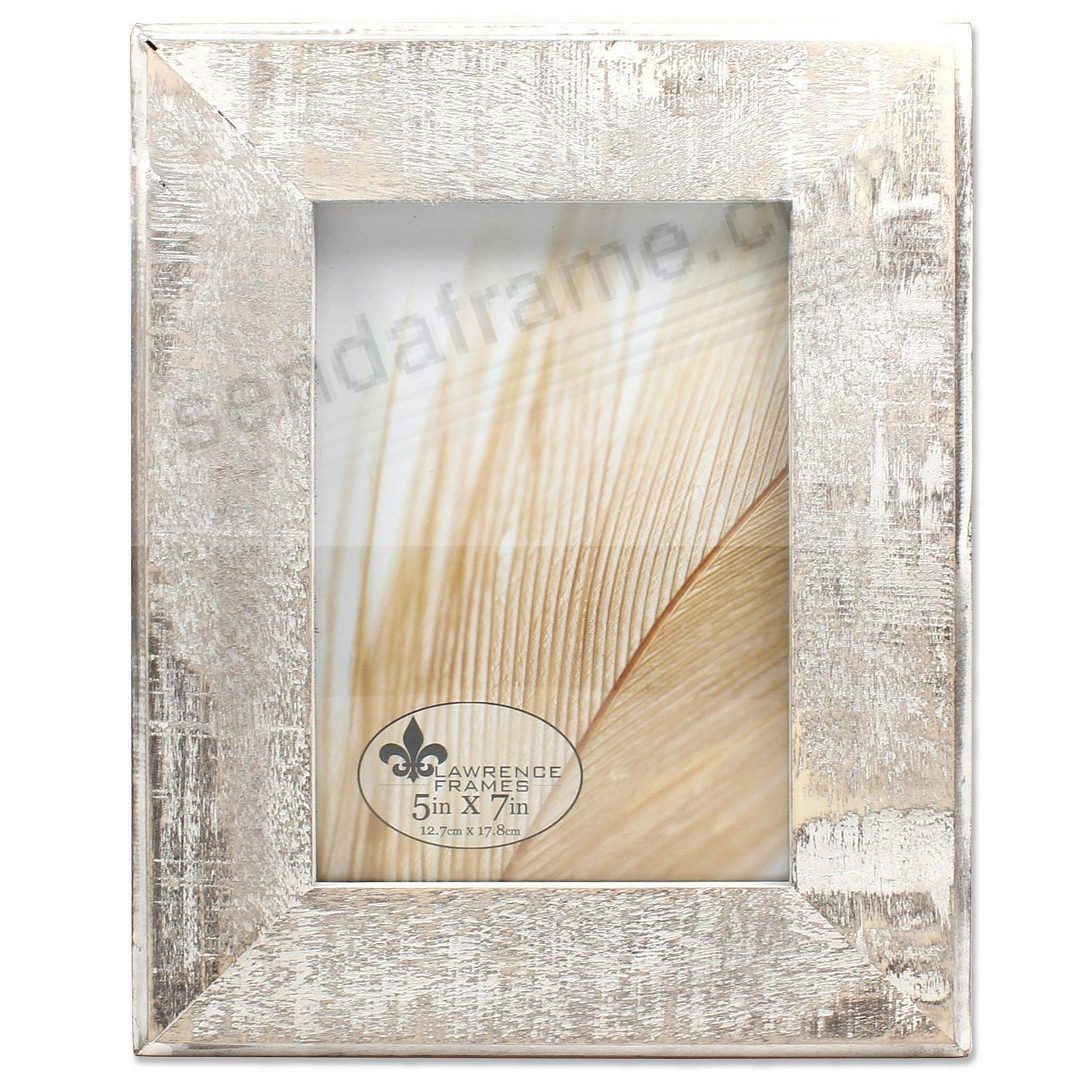 Weathered GRAY WOOD WHITE-WASH 5x7 frame by Lawrence®