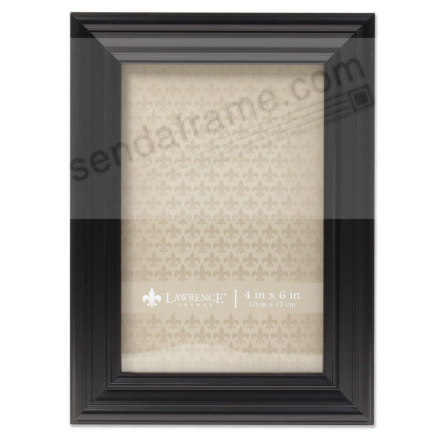 Classic Black Ridged 4x6 frame by Lawrence Frames®