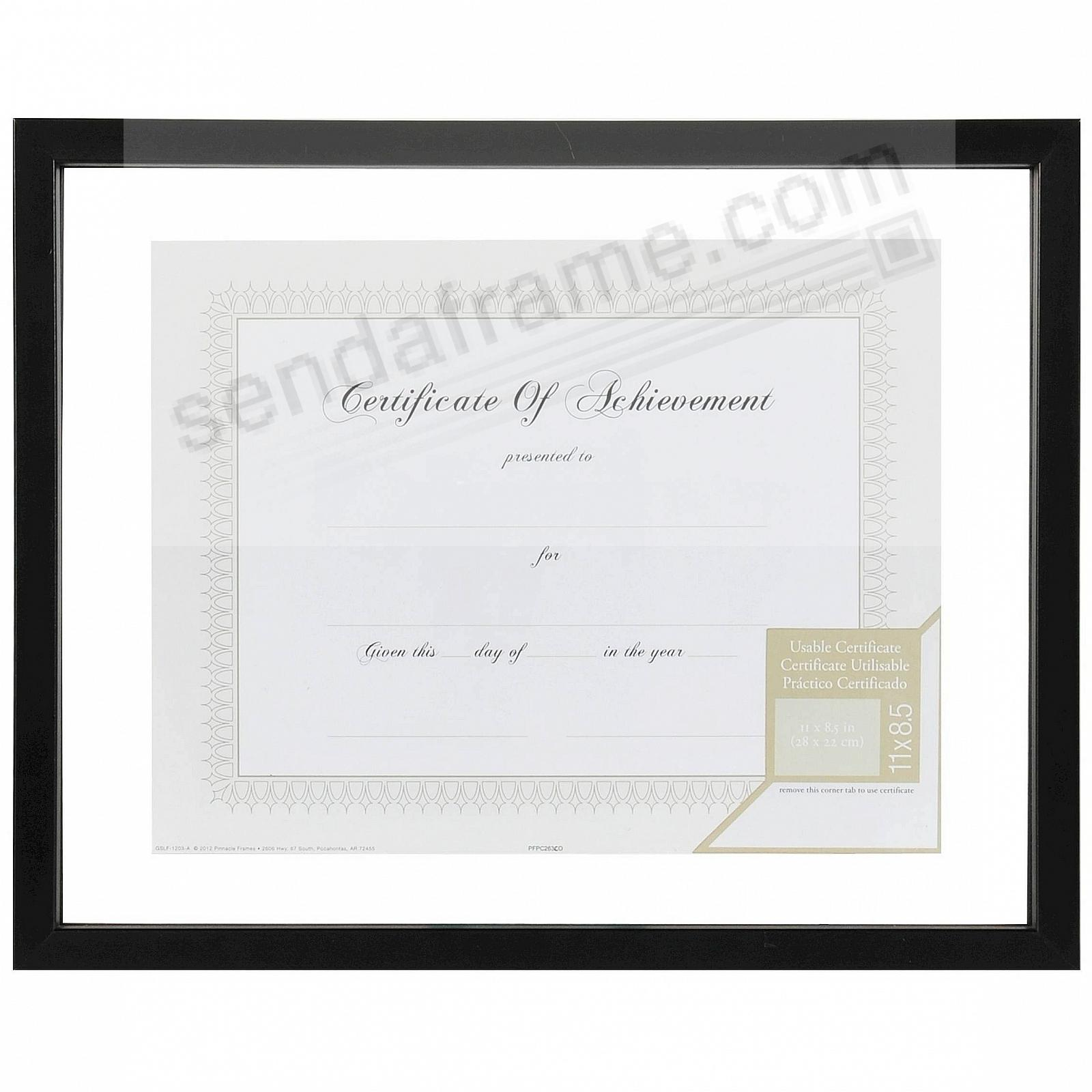 BLACK GLASS FLOAT 11x14/8½x11 frame by Gallery Solutions®